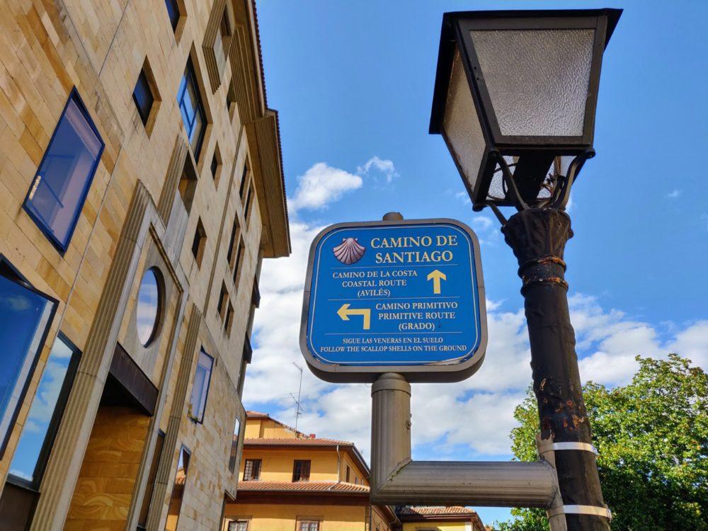 Camino Primitvo starting sign, Oviedo