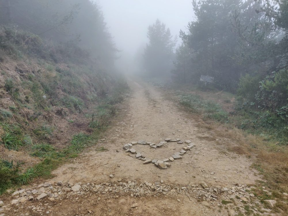 Crossing from Asturias into Galicia on the Primitivo